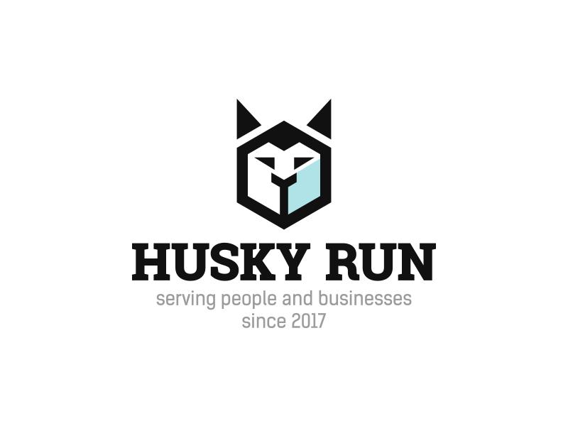 Husky Run dog husky run run husky identity logotype logo