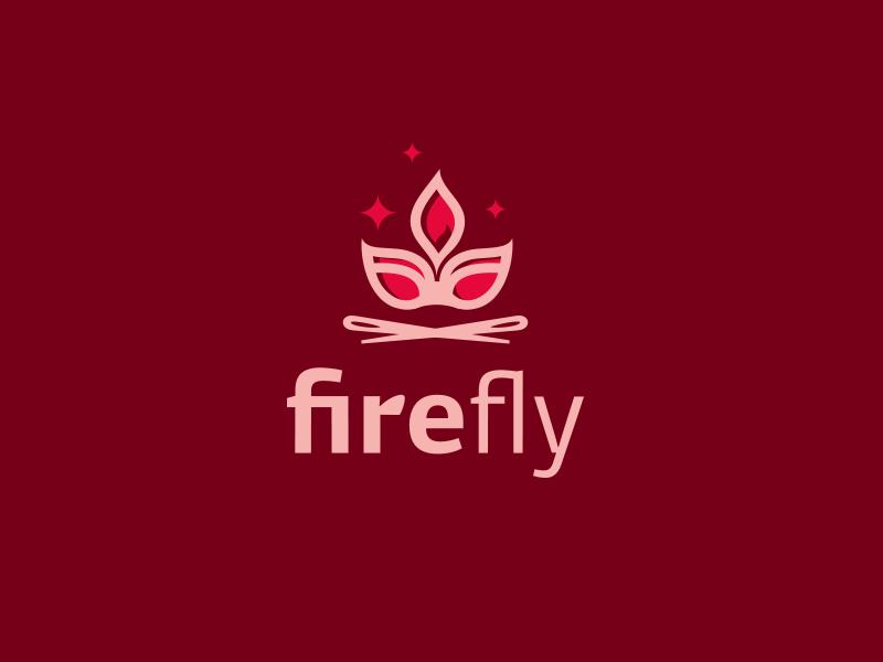 Firefly lingerie fly fire identity logotype logo