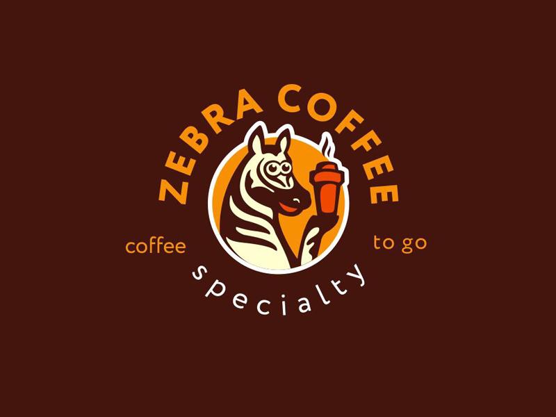 Zebra Coffee to go coffee to go coffee zebra identity logotype logo