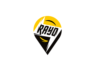 Rayo electric scooters electric scooter simple lettering type font letter branding brand identity logotype logo