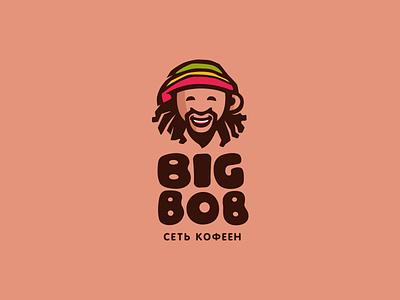 Big Bob coffee house dreadlocks coffee to go coffee bob marley reggae rasta bob big big bob illustration font letter branding brand identity logotype logo