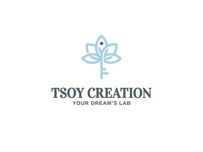 Tsoy Creation dream creation tsoy key lettering font letter branding brand identity logotype logo