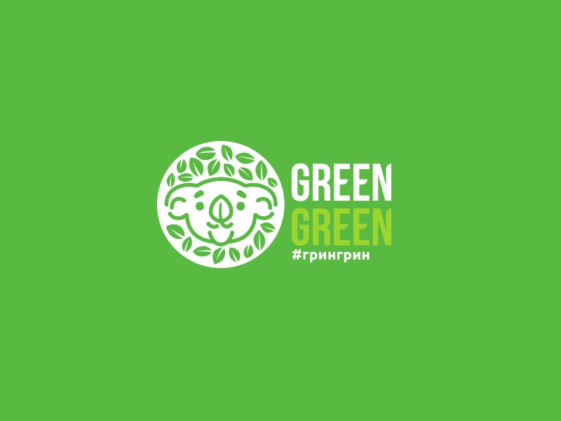 Green Green green coffeetogo panda coffee illustration lettering font letter branding brand identity logotype logo
