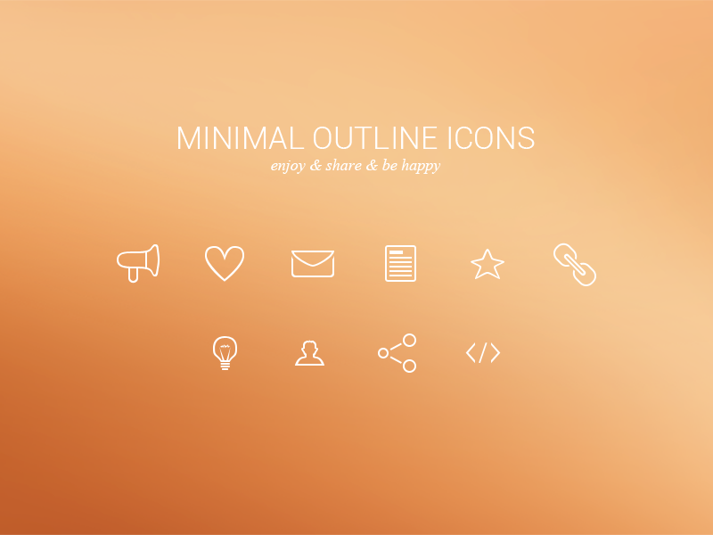 Minimal Outline Icons Freebie glyphs set white simple minimal outline icons iconset freebie debut free psd