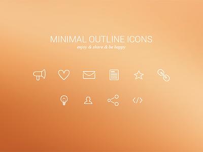 Minimal Outline Icons Freebie glyphs set white simple minimal outline icons iconset freebie debut free psd