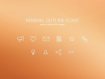 Minimal Outline Icons Freebie