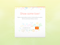 Show some love! colorfull love icons minimal outline white bright pastel newsletter input playoff rebound