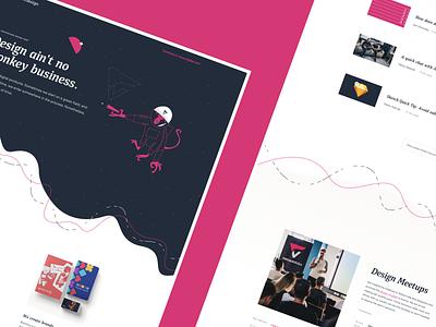 vacuum.design website branding typography clean illustration layout minimal webdesign web ui flat