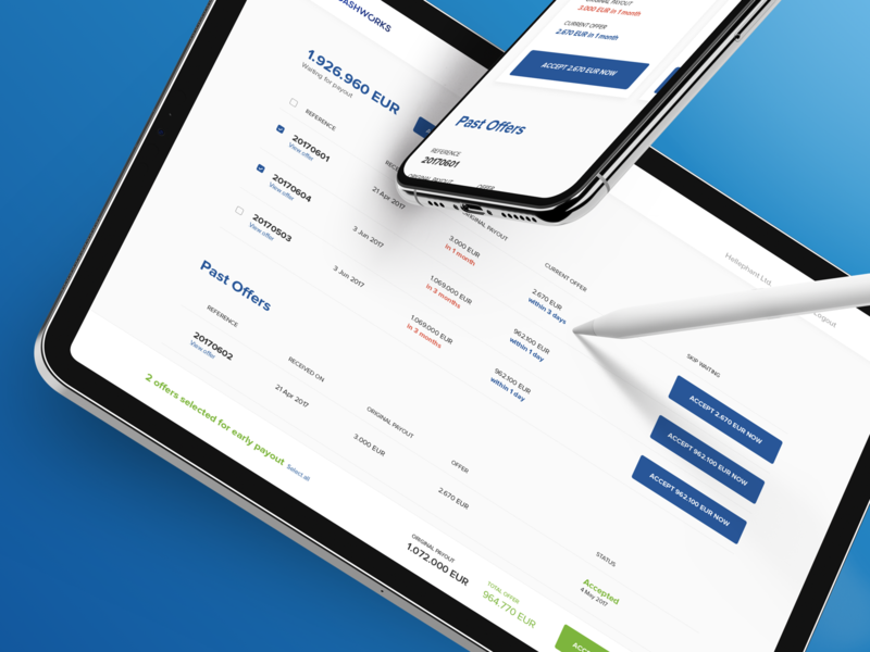 Cashworks [2017] b2b fintech dashboard design system product design web ui flat design ux clean minimal