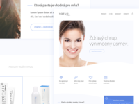 Website for premium whitening toothpastes seller