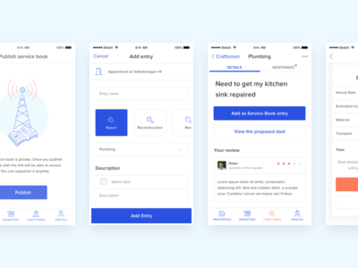 Roofus - mobile app ios type layout icon app flat clean typography branding vector blue mobile illustration minimal icons design ux ui