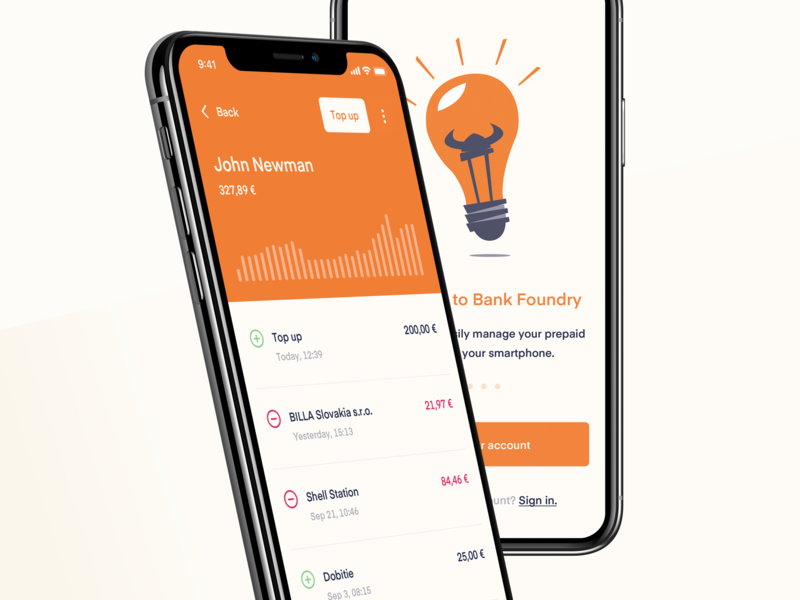 Bank Foundry - Visual exploration vector layout illustration design fintech mobile app branding mobile minimal clean ux flat ui