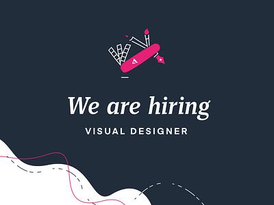 Visual Designer wanted! design job offer job hiring marketing visual identity graphic design visual design