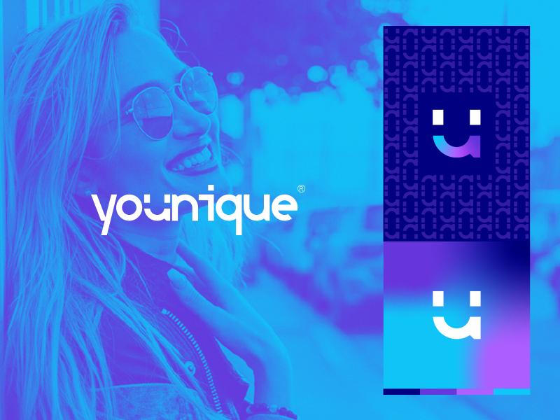Logo proposal for Younique younique unique hotel logo brand website clean ux ui identity branding logo design