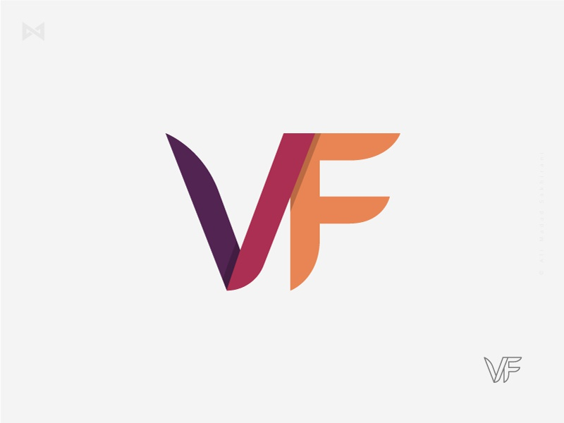 VF Letter Design ali madad type mark logotype typography symbol identity design logo watermark letter vf