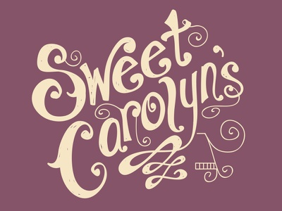 Sweet Carolyn's typography swirls hand-drawn