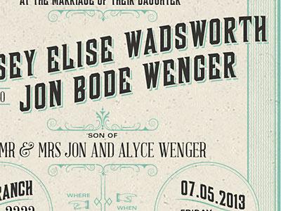 Invite letterpress wedding invitation