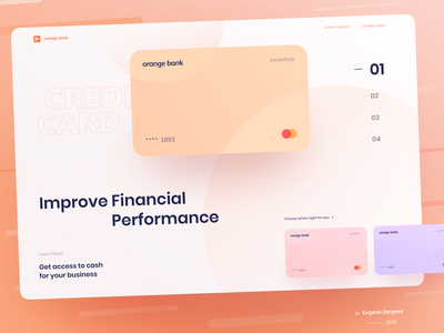 Orange Bank - Online French Bank. Homepage Redesign typogaphy webdesig payment loans startup investment business online banking landing page fintech bank account typography bank card credit card hero financial services finance online bank