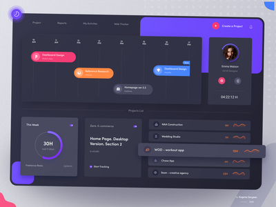 TMetric - Time Tracking Webapp. Redesign product design time tracking platform event productivity team timeline to do app webapp trello jira ticket task manager task app tables project management card list