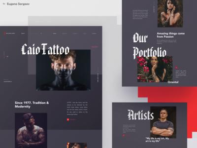 Caio Tattoo Studio - website redesign
