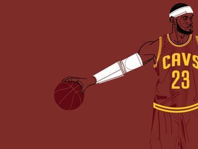 King Lebron cavaliers cleveland king basketball cavs lebron vector illustrator illustration