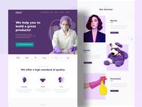 Landing Page for Innovative Manufacturer