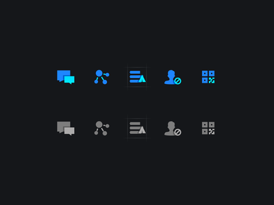 Icon dashboard system sop list twotone code scan qrcode hacker block filled group push fission split send message chat fill icon