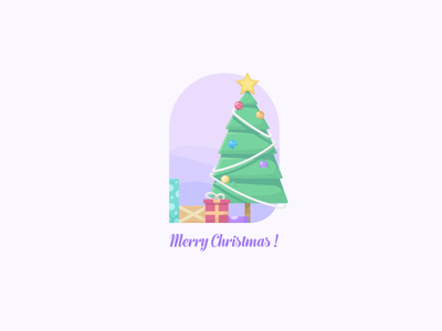 Merry Christmas! happiness santa xmas fancy holiday merry new year 2018 gift flat tree christmas