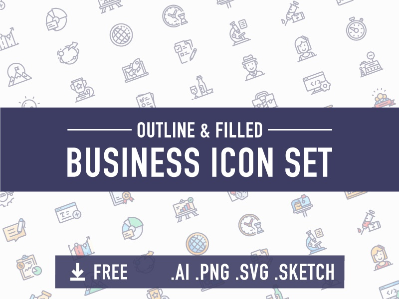 [FREE] Business icon set chart inspiration gambling award upvote outline stopwatch powerpoint company office business icon