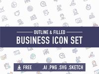 [FREE] Business icon set