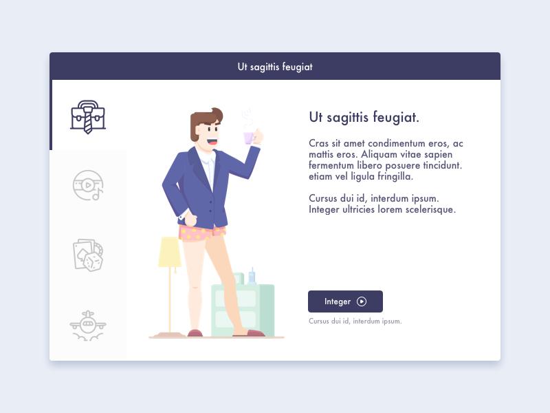 Interface explore design style page illustration dialog tab icon business ui desktop interface