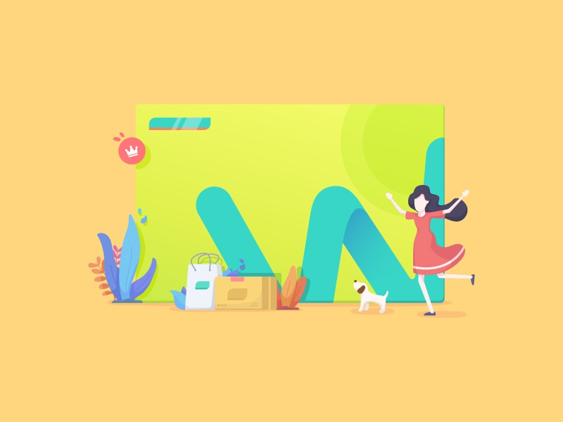 Member Card prime package watsons store shopping buy flat illustration vip member card