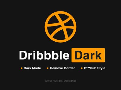 Dribbble Dark ui web darkmode night front-end tampermonkey userscript stylus stylish style css dark