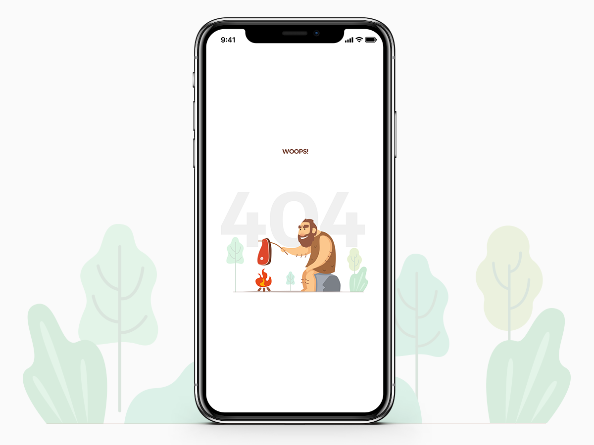 404 typography vector flat app design illustration tribe cooking tribe sitting outdoors page not found woops error illustrations error 404