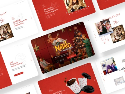 Xmas Coffee contest exploration coffee cup coffee xmas christmas gallery photography collage hand drawn ui  ux slider confetti social contest