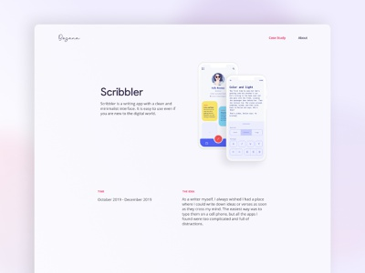 Personal Portfolio - Case Study Page typography ux ui  ux writing app casestudy uxui uidesign uxdesign design ui minimal clean