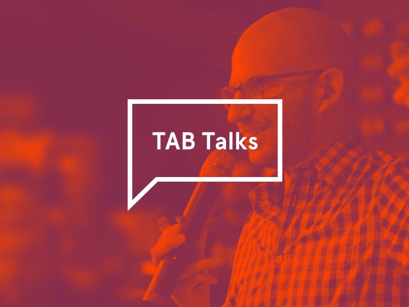 Introducing TAB Talks  designtalk logo talks