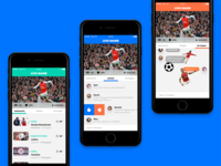 Concept for a live sport streaming app