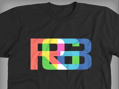 RGB T-Shirt rgb red green blue colors additive t-shirt