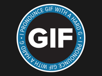 Sticker: GIF with a hard G