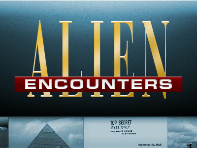 Alien Encounters website