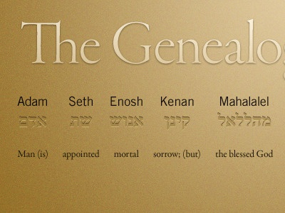 Genealogy Of Genesis 5