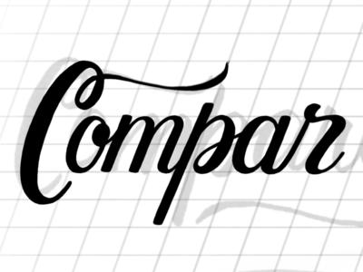 Compar (WIP) commission practice script handlettering cursive lettering procreate
