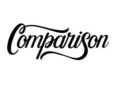 Comparison (WIP) brush lettering calligraphy handlettering procreate lettering