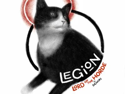 Legion: Lord of the Horde stippling pieta lettering cats illustration