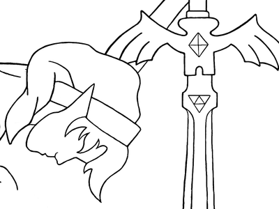 From the Ashes of Hyrule (WIP) procreate illustration video games breath of the wild the master sword legend of zelda