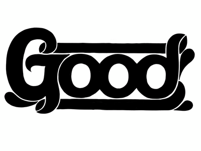 Good: Work in Progress embellishment hand-lettering fun relaxed bubble letters procreate lettering