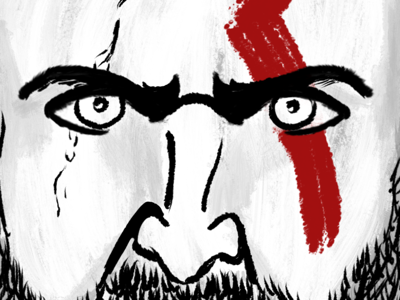 Dad of War: Illustration in Progress illustration god of war kratos
