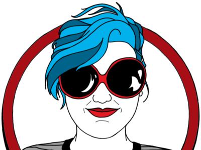 Tia procreate sunglasses portrait illustration fashion