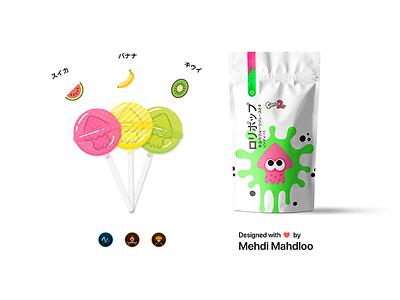 My Splatoon 2 Lollipops!!! 🍭 icons icon illustrations illustration design packaging package candy candies lollipop nintendo splatoon